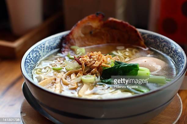Ramen soup in bowl
