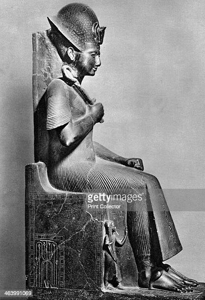 Rameses II Ancient Egyptian Pharaoh c1250 BC Black granite statue Found in the collection of the Museo di Antichità Turin Plate taken from The Art of...
