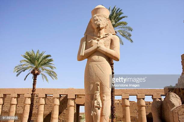 rameses ii at the temple of karnak in luxor, egypt - rameses ii stock photos and pictures
