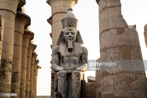 rameses ii statue, temple of luxor, luxor, egypt - rameses ii stock photos and pictures