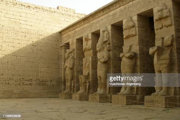 ramessid columns, medinet habu, egypt - cult stock pictures, royalty-free photos & images