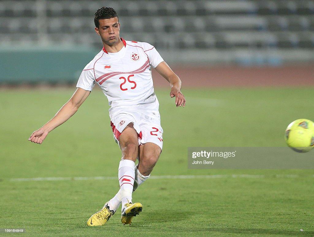 Rami Bedoui of Tunisia in action during the international friendly game between Tunisia and Ethiopia at the Al Wakrah Stadium on January 7, 2013 in Doha, Qatar.