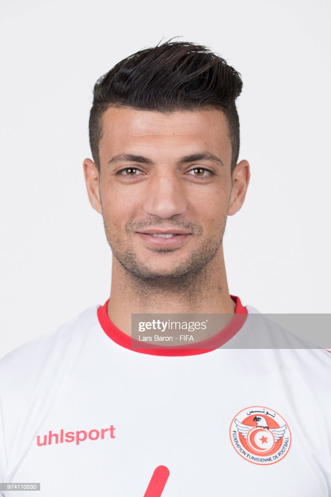 Rami Bedoui of Tunisia poses during the official FIFA World Cup 2018 portrait session on June 13, 2018 in Moscow, Russia.