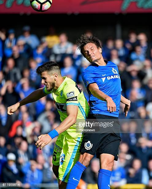 Rami Gershon defender of KAA Gent and Jelle Vossen forward of Club Brugge pictured during Jupiler Pro League match between Club Brugge KV and KAA...