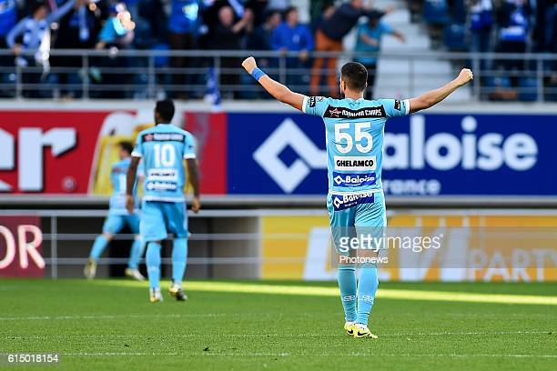Rami Gershon defender of KAA Gent clebrates after the 1_0 during the Jupiler Pro League match between KAA Gent and SV Zulte Waregem in the Ghelamco...