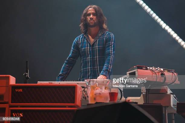 Rami Jaffee keyboardist member of the band Foo Fighters performs live on stage at Allianz Parque on February 27 2018 in Sao Paulo Brazil