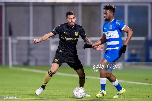 Rami Kaib or sc Heerenveen, Virgil Misidjan or PEC Zwolle during the Dutch Eredivisie match between PEC Zwolle and sc Heerenveen at the MAC3Park...