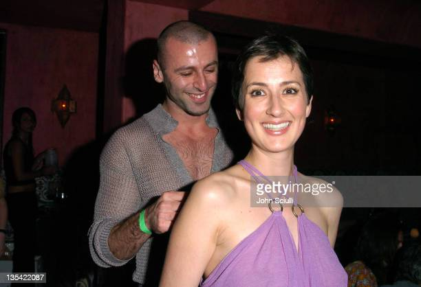 Rami Kashou and Anna Getty during 'Confessions of a Burning Man' After Party at The Spider Club in Hollywood California United States