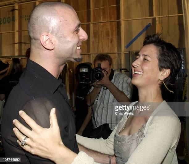 Rami Kashou and Anna Getty during MercedesBenz Fall 2004 Fashion Week at Smashbox Studios Rami Kashou Backstage at Smashbox Studios in Culver...
