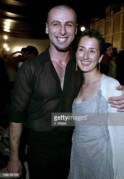 Rami Kashou and Anna Getty during MercedesBenz Fall 2004 Fashion Week at Smashbox Studios Rami Kashou Front Row at Smashbox Studios in Culver City...