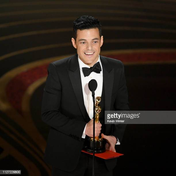 Rami Malek accepts the Actor in a Leading Role award for #39Bohemian Rhapsody#39 onstage during the 91st Annual Academy Awards at Dolby Theatre on...
