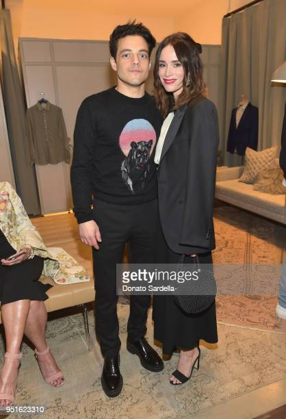 Rami Malek and Abigail Spencer attend Strong Suit by Ilaria Urbinati Launch Party at Nordstrom Local in Los Angeles on April 26 2018