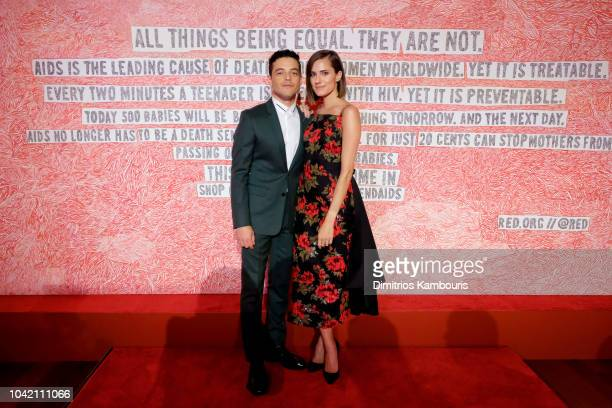 Rami Malek and Allison Williams attend as Montblanc And Launch The New RED Collection To Fight AIDS At New York's World Of McIntosh Townhouse at on...
