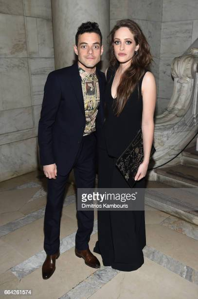 Rami Malek and Carly Chaikin attend the Montblanc UNICEF Gala Dinner at the New York Public Library on April 3 2017 in New York City