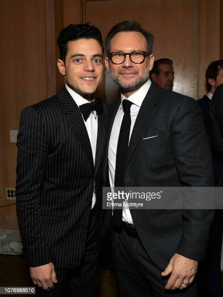 Rami Malek and Christian Slater attend the 30th Annual Palm Springs International Film Festival Film Awards Gala at Palm Springs Convention Center on...