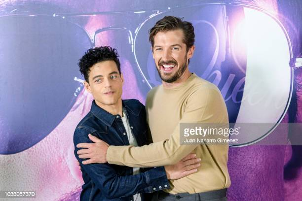 Rami Malek and Gwilym Lee attend 'Bohemian Rhapsody' photocall at Villa Magna Hotel on September 14 2018 in Madrid Spain