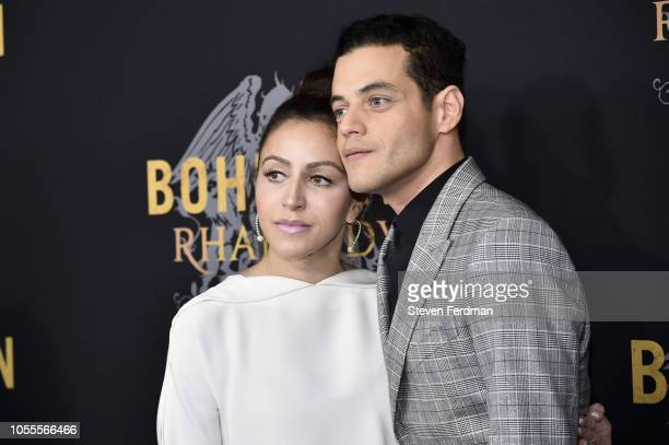Rami Malek and Jasmine Malek attend Bohemian Rhapsody New York Premiere at The Paris Theatre on October 30 2018 in New York City
