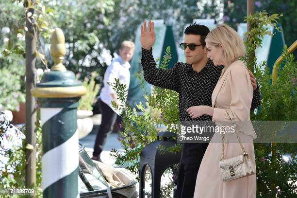 Rami Malek and Lucy Boynton are seen arriving at the 76th Venice Film Festival on September 03 2019 in Venice Italy