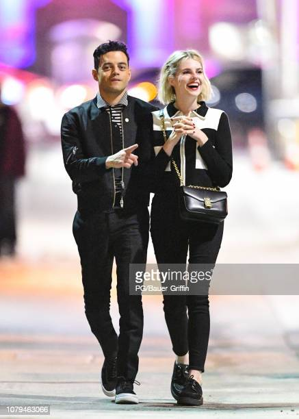 Rami Malek and Lucy Boynton are seen on January 08 2019 in Los Angeles California