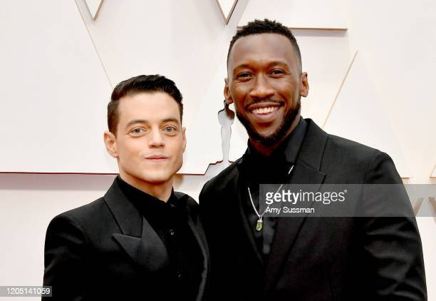Rami Malek and Mahershala Ali attend the 92nd Annual Academy Awards at Hollywood and Highland on February 09, 2020 in Hollywood, California.