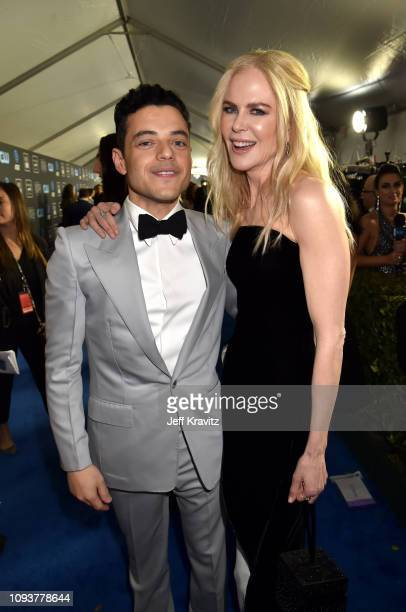 Rami Malek and Nicole Kidman at The 24th Annual Critics' Choice Awards at Barker Hangar on January 13 2019 in Santa Monica California