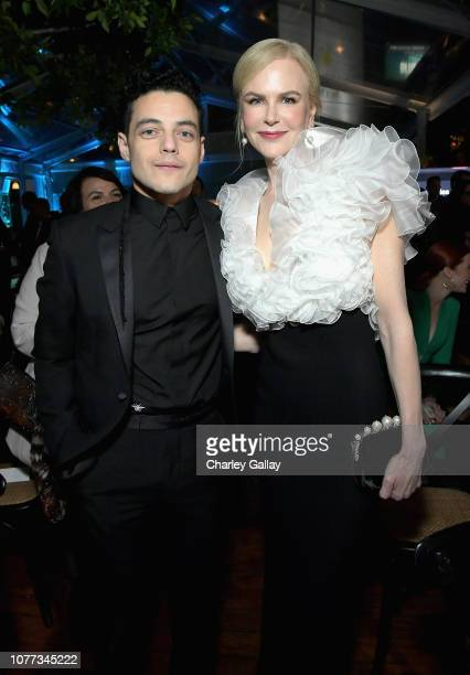 Rami Malek and Nicole Kidman attend the 8th AACTA International Awards on January 4 2019 in Los Angeles California