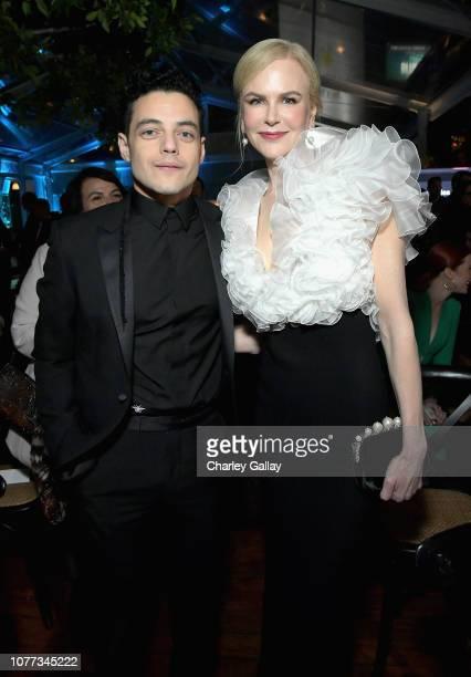 Rami Malek and Nicole Kidman attend the 8th AACTA International Awards on January 4 2019 in Los Angeles California
