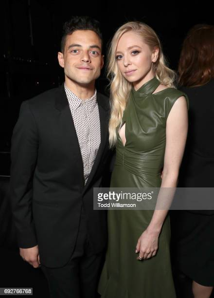 Rami Malek and Portia Doubleday attend a panel and reception For USA's 'Mr Robot' at Create Nightclub on June 5 2017 in Los Angeles California
