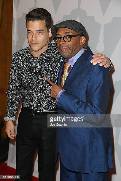 Rami Malek and Spike Lee attend The Academy Celebrates The 25th Anniversary Of Do The Right Thing at Bing Theatre At LACMA on June 27 2014 in Los...