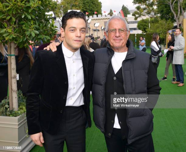 Rami Malek and Vice Chairman of NBCUniversal Ron Meyer attend the Premiere of Universal Pictures' Dolittle at Regency Village Theatre on January 11...