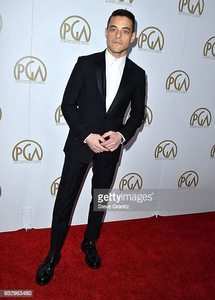 Rami Malek arrives at the 28th Annual Producers Guild Awards at The Beverly Hilton Hotel on January 28 2017 in Beverly Hills California
