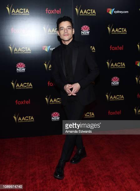 Rami Malek arrives at the 8th AACTA International Awards at Mondrian Los Angeles on January 04 2019 in West Hollywood California