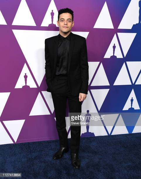 Rami Malek arrives at the 91st Oscars Nominees Luncheon at The Beverly Hilton Hotel on February 04 2019 in Beverly Hills California
