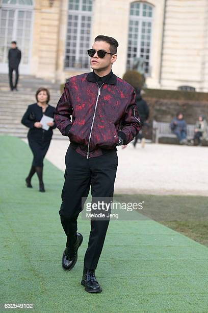 Rami Malek at the Dior Couture show at Musee Rodin on January 23 2017 in Paris France