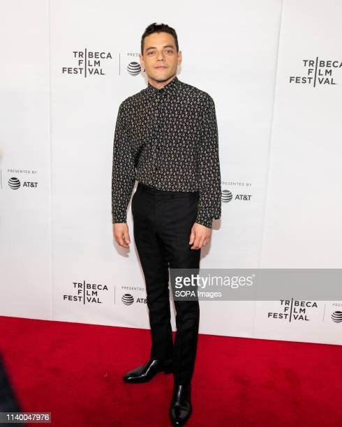"""Rami Malek at the Tribeca Film Festival red carpet arrivals for Tribeca Talks - """"A Farewell to Mr. Robot"""" at the """"Spring Studio - The Marriott Bonvoy..."""