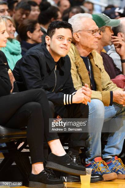 Rami Malek attends a game between the Los Angeles Lakers and Philadelphia 76ers on January 21 2019 at STAPLES Center in Los Angeles California NOTE...