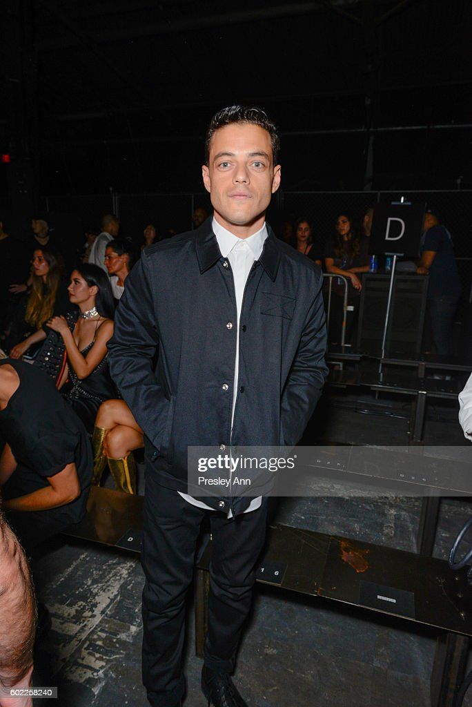 Rami Malek attends Alexander Wang show during New York Fashion Week at Pier 94 on September 10, 2016 in New York City.