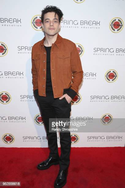 Rami Malek attends City Year Los Angeles' Spring Break Destination Education at Sony Studios on April 28 2018 in Los Angeles California