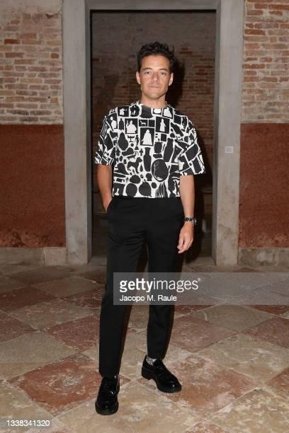 Rami Malek attends Miu Miu Women's Tales Dinner during 78 Venice Film Festival on September 04, 2021 in Venice, Italy.