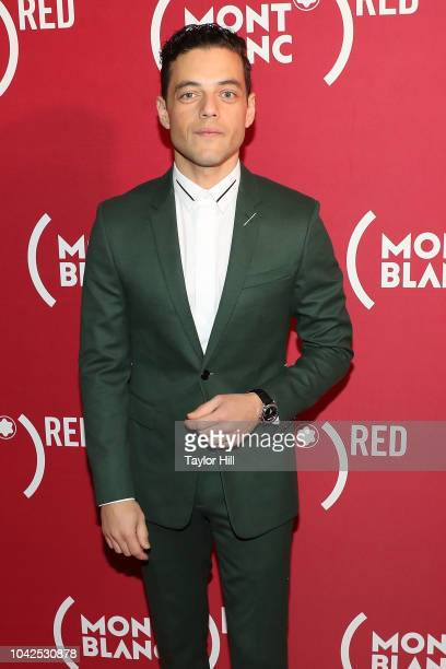 Rami Malek attends Montblanc and 's Write End AIDS celebration at World of McIntosh on September 27 2018 in New York City
