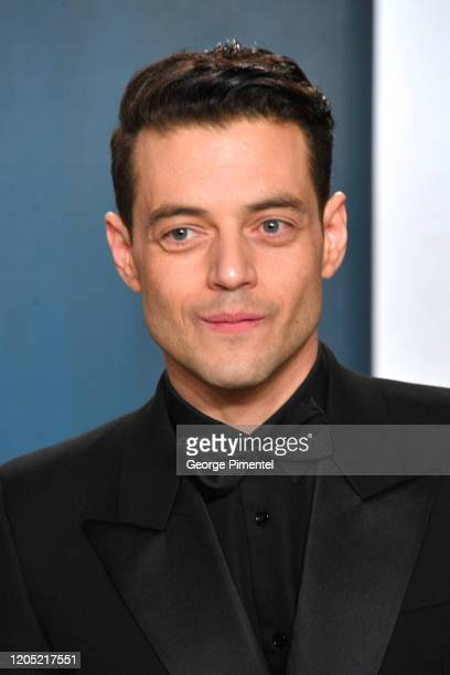 Rami Malek attends the 2020 Vanity Fair Oscar party hosted by Radhika Jones at Wallis Annenberg Center for the Performing Arts on February 09 2020 in...