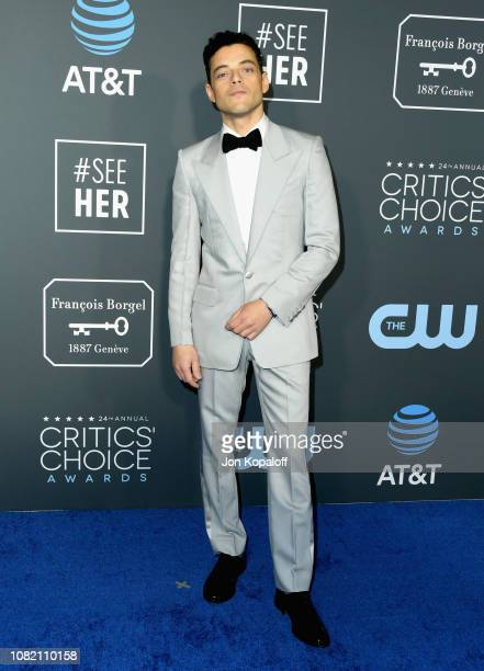 Rami Malek attends the 24th annual Critics' Choice Awards at Barker Hangar on January 13 2019 in Santa Monica California