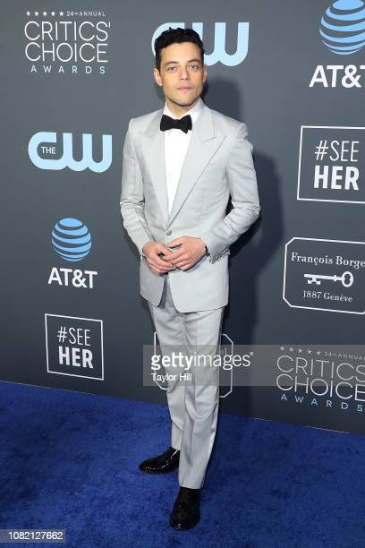 Rami Malek attends The 24th Annual Critics' Choice Awards at Barker Hangar on January 13 2019 in Santa Monica California