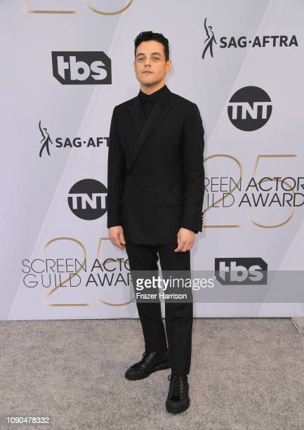 Rami Malek attends the 25th Annual Screen ActorsGuild Awards at The Shrine Auditorium on January 27 2019 in Los Angeles California