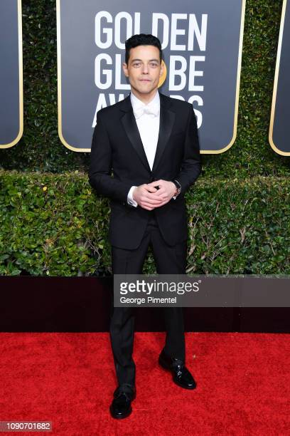 Rami Malek attends the 76th Annual Golden Globe Awards held at The Beverly Hilton Hotel on January 06 2019 in Beverly Hills California