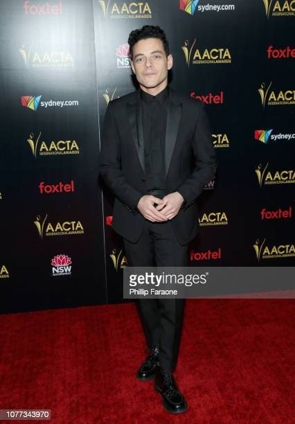 Rami Malek attends the 8th AACTA International Awards on January 4 2019 in Los Angeles California