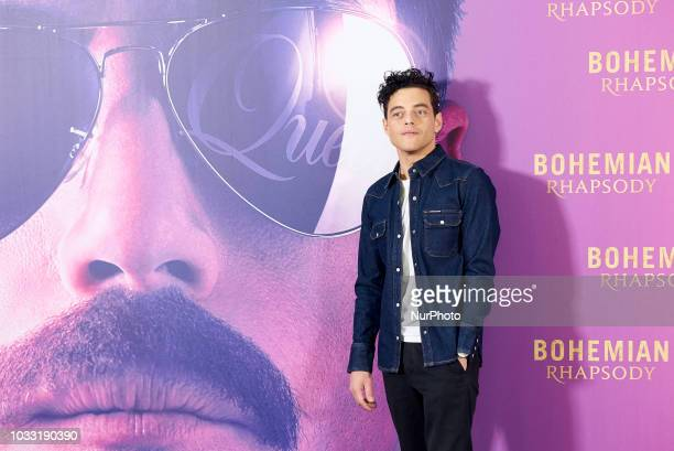Rami Malek attends the 'Bohemian Rhapsody' movie Photocall at Villamagna Hotel in Madrid on Sep 14 2018