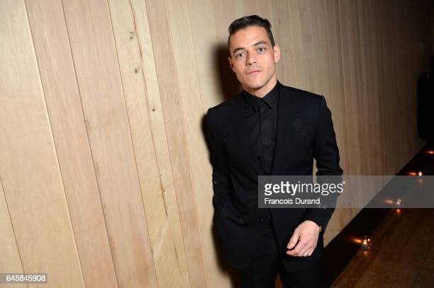 Rami Malek attends the Dior Homme Menswear Aftershow Cocktail Dinner Fall/Winter 20172018 show as part of Paris Fashion Week on January 21 2017 in...