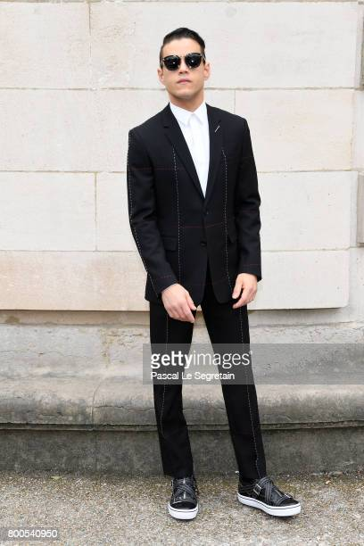 Rami Malek attends the Dior Homme Menswear Spring/Summer 2018 show as part of Paris Fashion Week on June 24 2017 in Paris France