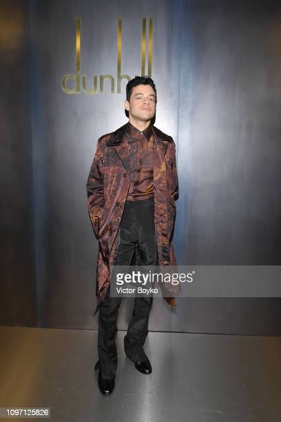 Rami Malek attends the Dunhill London Menswear Fall/Winter 20192020 show as part of Paris Fashion Week on January 20 2019 in Paris France